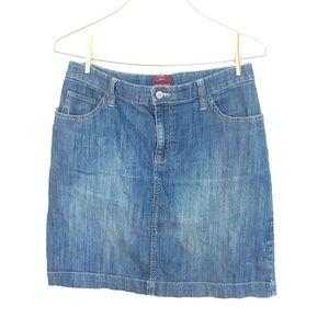 💖 Merona Size 10 Jean Stretchy Skirt